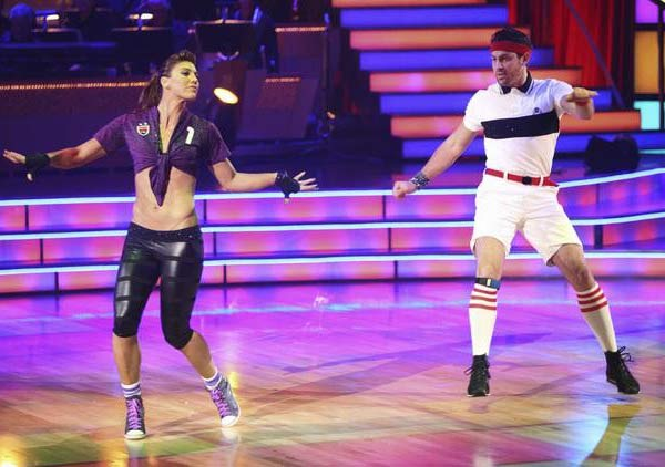 U.S. soccer star Hope Solo and her partner Maksim Chmerkovskiy received 16 out of 30 from the judges for their Jive on the Septembe