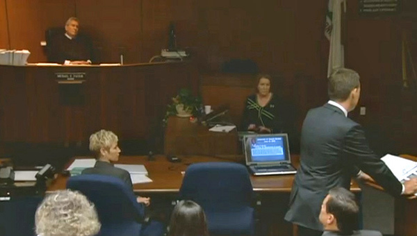 Deputy District Attorney David Walgren delivers his opening statements on Sept. 27, 2011, in the trial of Dr.