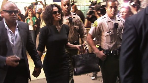 Michael Jackson's brother and sister, Randy and Janet Jackson, arrive to court for the involuntary manslaughter trial of Conrad Murray on Tuesday, Sept. 27, 2011 in Los Angeles.