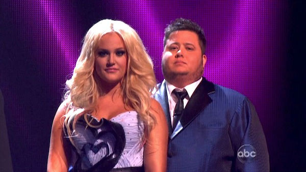 LGBT activist Chaz Bono and his partner Lacey Schwimmer await possible elimination on 'Dancing With The Stars: The Results Show' on Tuesday, September 27, 2011. The pair 17 out of 30 from the judges for their Quickstep on the September 26 episode of 'Danc