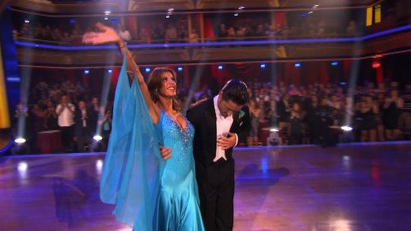 "<div class=""meta ""><span class=""caption-text "">Italian model and actress Elisabetta Canalis and her partner Valentin Chmerkovskiy react to being eliminated on 'Dancing With The Stars: The Results Show' on Tuesday, September 27, 2011. The pair received 21 out of 30 from the judges for their Quickstep on the September 26 episode of 'Dancing With The Stars.' (ABC Photo)</span></div>"