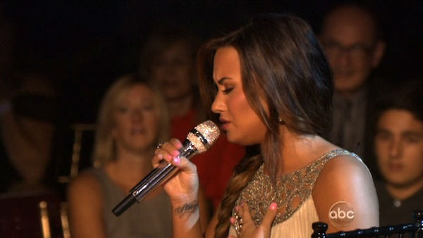 Demi Lovato visited &#39;Dancing With The Stars&#39; once again and performed &#39;Skyscraper&#39; from her new album, &#39;Unbroken&#39; on &#39;Dancing With The Stars: The Result Show&#39; on Tuesday, September 27, 2011. <span class=meta>(ABC Photo)</span>