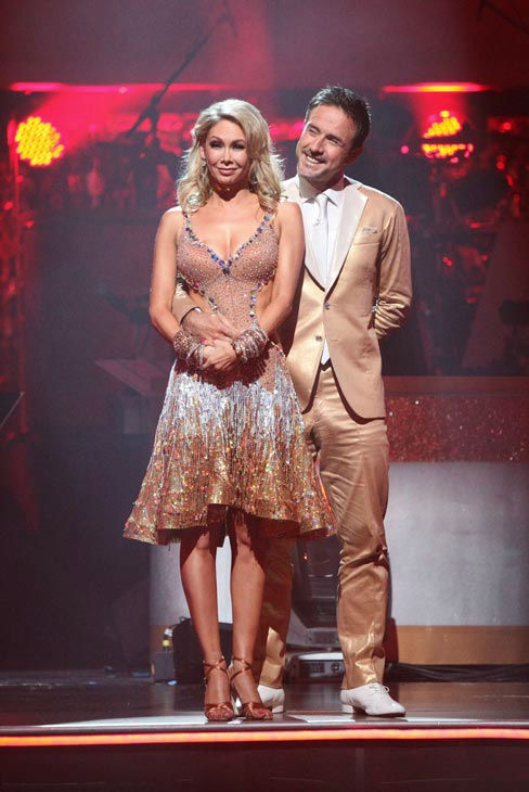 David Arquette and his partner Kym Johnson await possible elimination on &#39;Dancing With The Stars: The Result Show&#39; on Tuesday, September 27, 2011. <span class=meta>(ABC Photo&#47; Adam Taylor)</span>