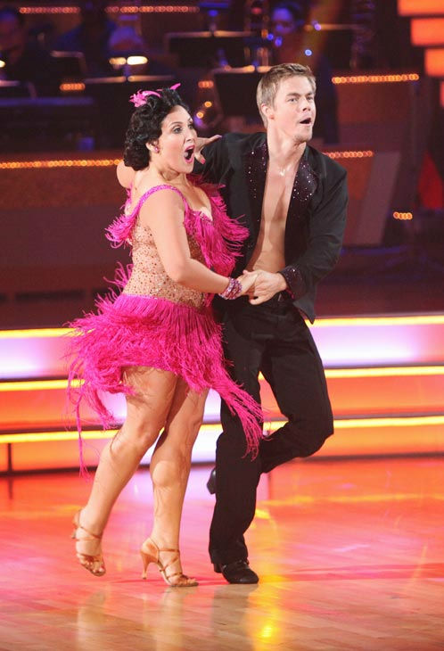 Talk show host and actress Ricki Lake and her partner Derek Hough perform an encore of their Jive on 'Dancing With The Stars: The Results Show' on Tuesday, September 27, 2011. The pair received 20 out of 30 from the judges for their Jive on the September