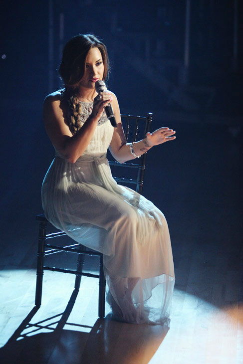 Demi Lovato visited &#39;Dancing With The Stars&#39; once again and performed &#39;Skyscraper&#39; from her new album, &#39;Unbroken&#39; on &#39;Dancing With The Stars: The Result Show&#39; on Tuesday, September 27, 2011. <span class=meta>(ABC Photo&#47; Adam Taylor)</span>