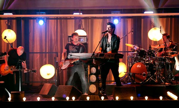 The Script played on the &#39;Dancing With The Stars&#39; stage with a live performance of &#39;For the First Time.&#39; The song is off their sophomore album &#39;Science &#38; Faith&#39; on &#39;Dancing With The Stars: The Result Show&#39; on Tuesday, September 27, 2011. <span class=meta>(ABC Photo&#47; Adam Taylor)</span>