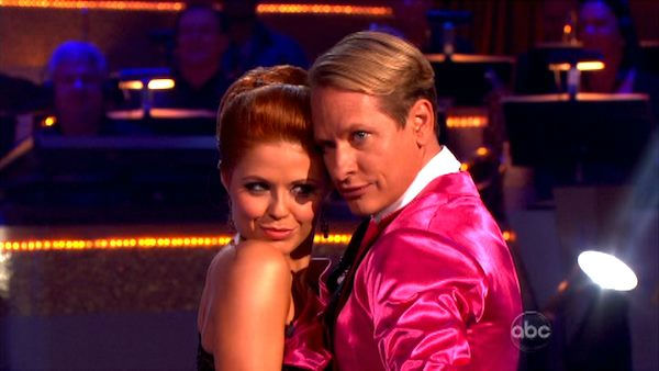 "<div class=""meta ""><span class=""caption-text "">Television personality Carson Kressley and his partner Anna Trebunskaya received 23 out  of 30 from the judges for their Tango on the October 3 episode of 'Dancing With The  Stars.' (ABC Photo)</span></div>"