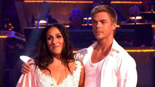 "<div class=""meta ""><span class=""caption-text "">Talk show host and actress Ricki Lake and her partner Derek Hough received 27 out of 30  from the judges for their Rumba on the October 3 episode of 'Dancing With The Stars.' (ABC Photo)</span></div>"