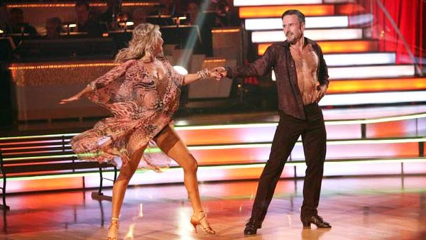 Actor David Arquette and his partner Kym Johnson received 24 out of 30 from the  judges for their Rumba on the October 3 episode of &#39;Dancing With The Stars.&#39; <span class=meta>(ABC Photo)</span>