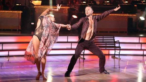 Actor David Arquette and his partner Kym Johnson received 24 out of 30 from the judges for their Rumba on the October 3 episode of 'Dancing With The Stars.'