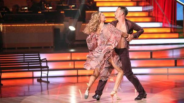 "<div class=""meta ""><span class=""caption-text "">Actor David Arquette and his partner Kym Johnson received 24 out of 30 from the  judges for their Rumba on the October 3 episode of 'Dancing With The Stars.' (ABC Photo)</span></div>"