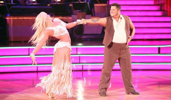 "<div class=""meta ""><span class=""caption-text "">LGBT activist Chaz Bono and his partner Lacey Schwimmer received 18 points out of 30 from the judges for their Rumba on the October 3 episode of 'Dancing With The Stars.' (ABC Photo)</span></div>"