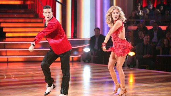 Reality Star Kristin Cavallari and her partner Mark Ballas received 24 out of 30 from  the judges for their Samba on the October 3 episode of &#39;Dancing With The Stars.&#39; <span class=meta>(ABC Photo)</span>