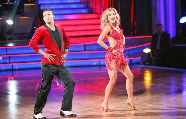 "<div class=""meta image-caption""><div class=""origin-logo origin-image ""><span></span></div><span class=""caption-text"">Reality Star Kristin Cavallari and her partner Mark Ballas received 24 out of 30 from  the judges for their Samba on the October 3 episode of 'Dancing With The Stars.' (ABC Photo)</span></div>"