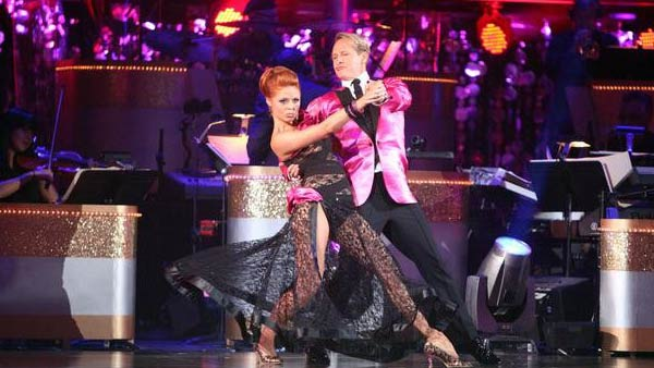 Television personality Carson Kressley and his partner Anna Trebunskaya received 23 out of 30 from the judges for their Tango on the October 3 episode of 'Dancing With The Stars.'