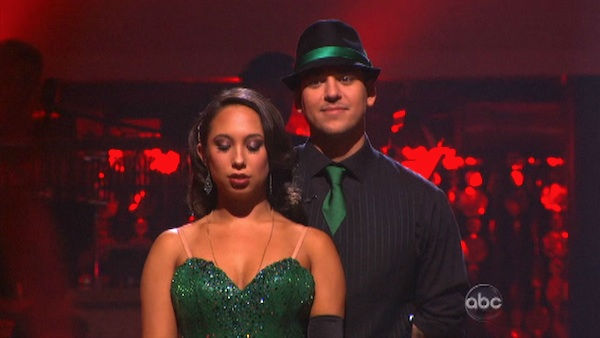 &#39;Keeping Up With The Kardashians&#39; star Rob Kardashian and his partner Cheryl Burke await possible elimination on &#39;Dancing With The Stars: The Results Show&#39; on Tuesday, October 4, 2011. The pair received 26 out of 30 from the judges for their Rumba on the October 3 episode &#39;Dancing With The Stars.&#39; <span class=meta>(ABC Photo)</span>