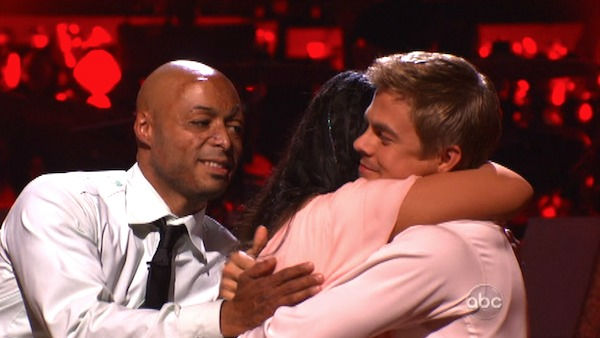 "<div class=""meta image-caption""><div class=""origin-logo origin-image ""><span></span></div><span class=""caption-text"">Talk show host and actress Ricki Lake and her partner Derek Hough await possible elimination on 'Dancing With The Stars: The Results Show' on Tuesday, October 4, 2011. The pair received 27 out of 30 from the judges for their Rumba on the October 3 episode of 'Dancing With The Stars.' (ABC Photo)</span></div>"