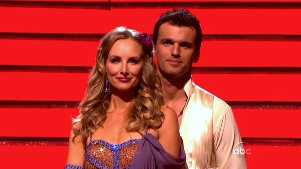 Singer Chynna Phillips and her partner Tony Dovolani await possible elimination on &#39;Dancing With The Stars: The Results Show&#39; on Tuesday, October 4, 2011. The pair received 26 out of 30 from the judges for their Rumba on the October 3 episode &#39;Dancing With The Stars.&#39; <span class=meta>(ABC Photo)</span>