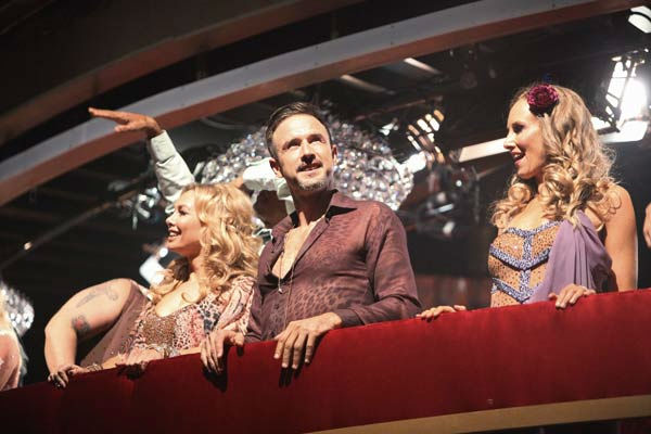 "<div class=""meta ""><span class=""caption-text "">The remaining couples waited to see who would be eliminated, as determined by a combination of the judges' scores and viewers' votes on dances performed on Monday's performance show, on 'Dancing with the Stars the Results Show,' on Tuesday, October 4, 2011. (ABC Photo/ Adam Taylor)</span></div>"