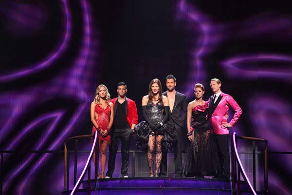 The remaining couples waited to see who would be eliminated, as determined by a combination of the judges&#39; scores and viewers&#39; votes on dances performed on Monday&#39;s performance show, on &#34;Dancing with the Stars the Results Show,&#34; TUESDAY, OCTOBER 4 &#40;9:00-10:01 p.m., ET&#41;, on the ABC Television Network.  &#40;ABC&#47;ADAM TAYLOR&#41; KRISTIN CAVALLARI, MARK BALLAS, HOPE SOLO, MAKSIM CHMERKOVSKIY, ANNA TREBUNSKAYA, CARSON KRESSLEY <span class=meta>(ABC Photo&#47; Adam Taylor)</span>