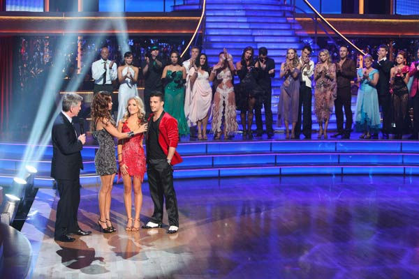 "<div class=""meta ""><span class=""caption-text "">Reality Star Kristin Cavallari and her partner Mark Ballas react to being eliminated on 'Dancing With The Stars: The Results Show' on Tuesday, October 4, 2011. The pair received 24 out of 30 from the judges for their Samba on the October 3 episode of 'Dancing With The Stars.' (ABC Photo/ Adam Taylor)</span></div>"