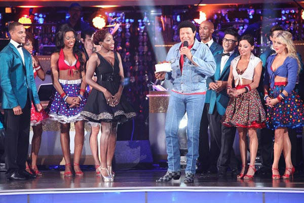 "<div class=""meta ""><span class=""caption-text "">'Macy's Stars of Dance' paid tribute to 'The Twist' to celebrate its 50th anniversary on 'Dancing With The Stars: The Result Show' on Tuesday, October 4, 2011. The performance featured Grammy Award winner Estelle and Chubby Checker. (ABC Photo/ Adam Taylor)</span></div>"