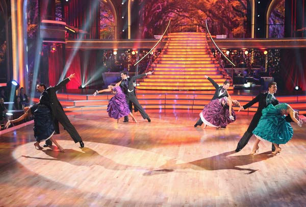 "<div class=""meta image-caption""><div class=""origin-logo origin-image ""><span></span></div><span class=""caption-text"">The 'Dancing With the Stars' Troupe did a special performance themed to 'Gone with the Wind,' as a preview to next week's Movie Scores theme on 'Dancing With The Stars: The Result Show' on Tuesday, October 4, 2011. (ABC Photo/ Adam Taylor)</span></div>"