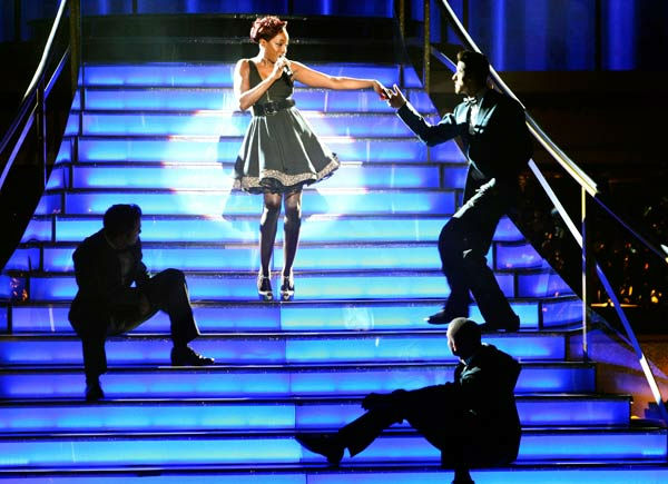 "<div class=""meta image-caption""><div class=""origin-logo origin-image ""><span></span></div><span class=""caption-text"">'Macy's Stars of Dance' paid tribute to 'The Twist' to celebrate its 50th anniversary on 'Dancing With The Stars: The Result Show' on Tuesday, October 4, 2011. The performance featured Grammy Award winner Estelle and Chubby Checker. (ABC Photo/ Adam Taylor)</span></div>"