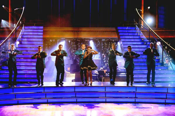 'Macy's Stars of Dance' paid tribute to 'The Twist' to celebrate its 50th anniversary on 'Dancing With The Stars: The Result Show' on Tuesday, October 4, 2011. The performance featured Grammy Award winner Estelle and Chubby Checker.