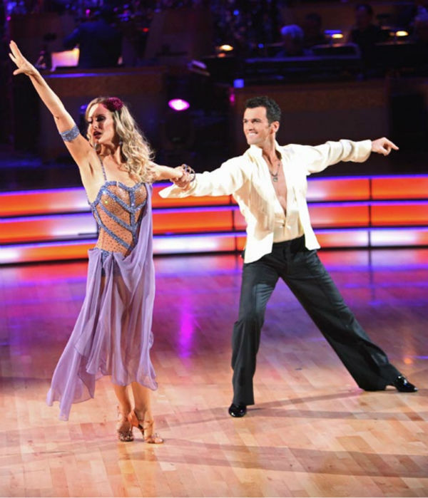Singer Chynna Phillips and her partner Tony Dovolani returned to the stage to perform an encore of their Rumba on &#39;Dancing With The Stars: The Results Show&#39; on Tuesday, October 4, 2011. The pair received 26 out of 30 from the judges for their Rumba on the October 3 episode &#39;Dancing With The Stars.&#39; <span class=meta>(ABC Photo&#47; Adam Taylor)</span>