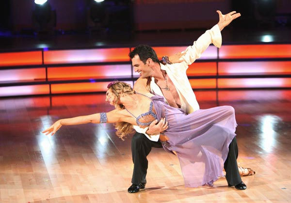 Singer Chynna Phillips and her partner Tony Dovolani returned to the stage to perform an encore of their Rumba on 'Dancing With The Stars: The Results Show' on Tuesday, October 4, 2011. The pair received 26 out of 30 from the judges for their Rumba on the