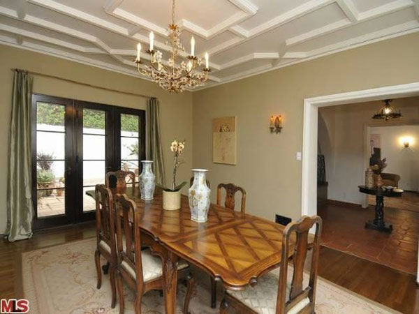 The dining room in Frances Bean Cobain&#39;s 3,350 square foot home, which the only child of Courtney Love and the late Kurt Cobain purchased for &#36;1,825,000 in July, 2011. The property, which was built in 1930 by architect Carl Jules Weyl, has 4-bedrooms and 3.5 bathrooms. <span class=meta>(Photo&#47;MLS Listings)</span>