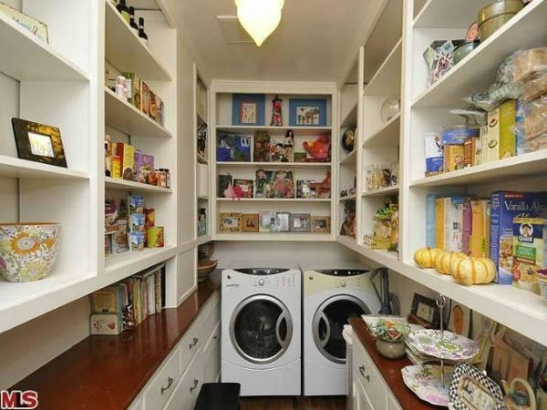 The pantry in Frances Bean Cobain's 3,350 square foot home, which the only child of Courtney Love and the late Kurt Cobain purchased for $1,825,000 in July, 2011. The property, which was built in 1930 by architect Carl Jules Weyl, has 4-bedrooms and 3.5 b