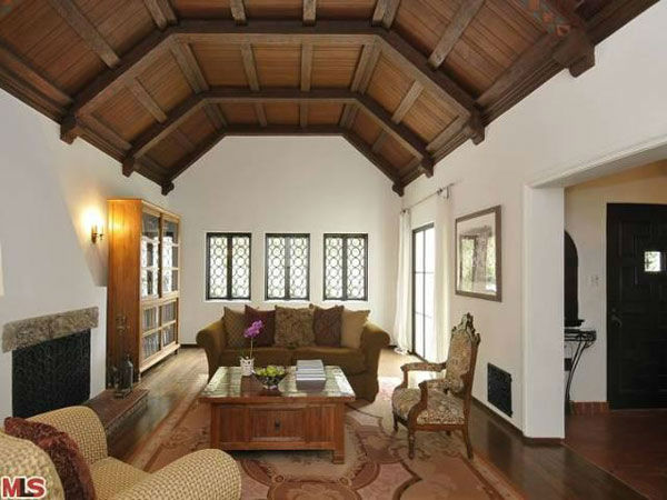 The sitting room in Frances Bean Cobain&#39;s 3,350 square foot home, which the only child of Courtney Love and the late Kurt Cobain purchased for &#36;1,825,000 in July, 2011. The property, which was built in 1930 by architect Carl Jules Weyl, has 4-bedrooms and 3.5 bathrooms. <span class=meta>(Photo&#47;MLS Listings)</span>