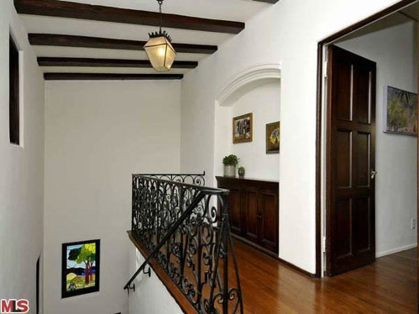 The staircase in Frances Bean Cobain's 3,350 square foot home, which the only child of Courtney Love and the late Kurt Cobain purchased for $1,825,000 in July, 2011. The property, which was built in 1930 by architect Carl Jules Weyl, has 4-bedrooms and 3.