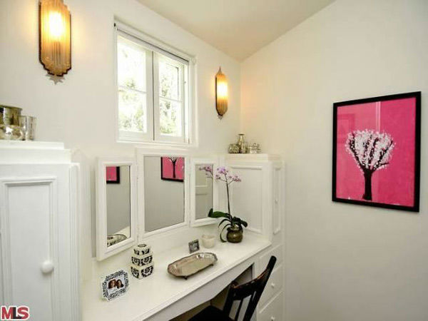 The vanity in Frances Bean Cobain's 3,350 square foot home, which the only child of Courtney Love and the late Kurt Cobain purchased for $1,825,000 in July, 2011. The property, which was built in 1930 by architect Carl Jules Weyl, has 4-bedrooms and 3.5 b