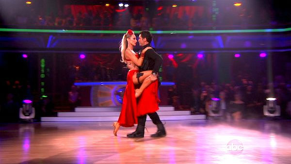 "<div class=""meta ""><span class=""caption-text "">Singer Chynna Phillips and her partner Tony Dovolani received 21 out of 30 from the judges for their Tango on the October 3 episode 'Dancing With The Stars.' (Photo/ABC)</span></div>"