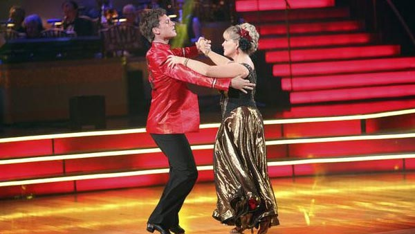"<div class=""meta image-caption""><div class=""origin-logo origin-image ""><span></span></div><span class=""caption-text"">Television host Nancy Grace and her partner Tristan Macmanus received 21 out of 30 from the judges for their Paso Doble on the October 3 episode of 'Dancing With The Stars.' (Photo/ABC)</span></div>"