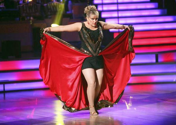 Television host Nancy Grace and her partner Tristan Macmanus received 21 out of 30 from the judges for their Paso Doble on the October 3 episode of &#39;Dancing With The Stars.&#39; <span class=meta>(Photo&#47;ABC)</span>