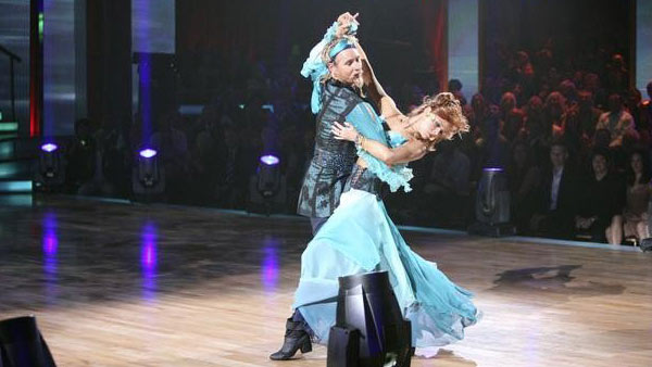 Television personality Carson Kressley and his partner Anna Trebunskaya received 20 out of 30 from the judges for their Viennese Waltz on the October 3 episode of 'Dancing With The Stars.'