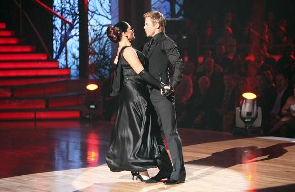 "<div class=""meta ""><span class=""caption-text "">Talk show host and actress Ricki Lake and her partner Derek Hough received 29 out of 30 from the judges for their Tango on the October 3 episode of 'Dancing With The Stars.' (Photo/ABC)</span></div>"