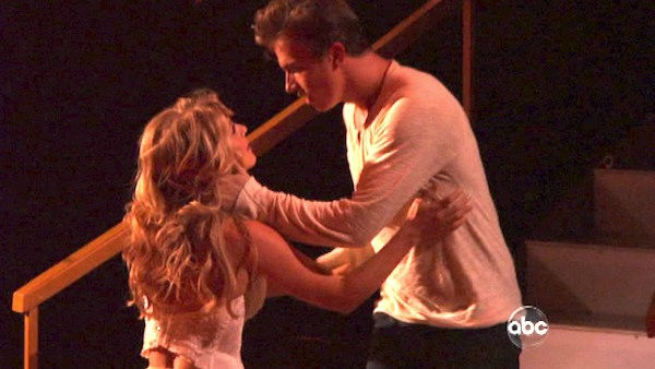 'Dancing With the Stars' two-time champion Julianne Hough returned to perform a dancing duet with her 'Footloose' co-star Kenny Wormald to their remake of 'Holding Out For A Hero' on 'Dancing With The Stars: The Result Show' on Tuesday, October 11, 2011.