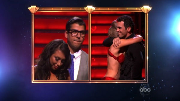 "<div class=""meta ""><span class=""caption-text "">Singer Chynna Phillips and her partner Tony Dovolani react to being eliminated on 'Dancing With The Stars: The Result Show' on Tuesday, October 11, 2011. The pair received 21 out of 30 from the judges for their Tango on the October 10 episode 'Dancing With The Stars.' (ABC Photo)</span></div>"
