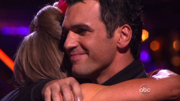 Singer Chynna Phillips and her partner Tony Dovolani react to being eliminated on 'Dancing With The Stars: The Result Show' on Tuesday, October 11, 2011. The pair received 21 out of 30 from the judges for their Tango on the October 10 episode 'Dancing Wit
