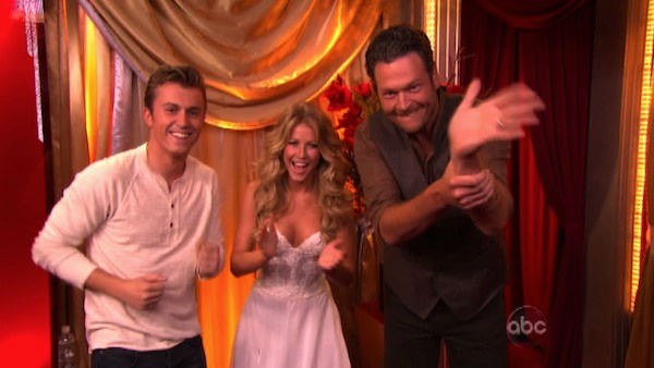 "<div class=""meta ""><span class=""caption-text "">'Dancing With the Stars' two-time champion Julianne Hough returned to perform a dancing duet with her 'Footloose' co-star Kenny Wormald to their remake of 'Holding Out For A Hero' on 'Dancing With The Stars: The Result Show' on Tuesday, October 11, 2011. (Photo/ABC Photo)</span></div>"