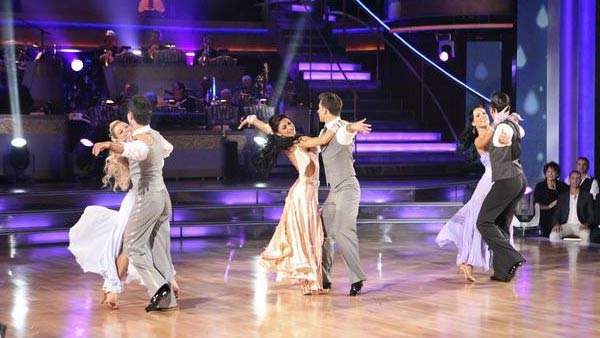 Professional dancers perform on the October 3 episode 'Dancing With The Stars.'
