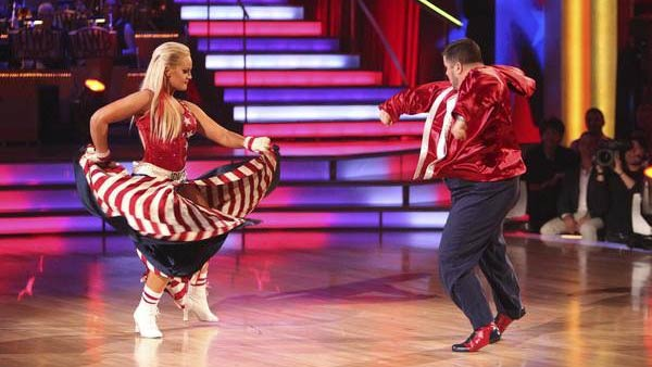 LGBT activist Chaz Bono and his partner Lacey Schwimmer received 21 out of 18 from the judges for their Paso Doble on the October 3 episode of &#39;Dancing With The Stars.&#39; <span class=meta>(Photo&#47;ABC)</span>