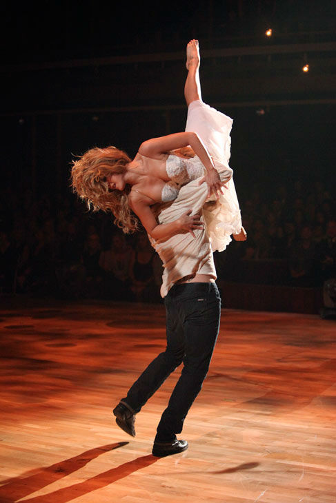 &#39;Dancing With the Stars&#39; two-time champion Julianne Hough returned to perform a dancing duet with her &#39;Footloose&#39; co-star Kenny Wormald to their remake of &#39;Holding Out For A Hero&#39; on &#39;Dancing With The Stars: The Result Show&#39; on Tuesday, October 11, 2011.  <span class=meta>(ABC Photo&#47; Adam Taylor)</span>