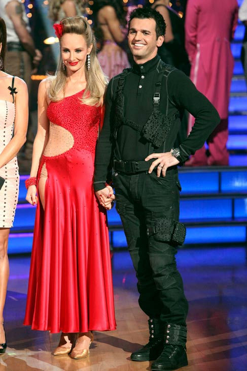 Singer Chynna Phillips and her partner Tony Dovolani react to being eliminated on &#39;Dancing With The Stars: The Result Show&#39; on Tuesday, October 11, 2011. The pair received 21 out of 30 from the judges for their Tango on the October 10 episode &#39;Dancing With The Stars.&#39; <span class=meta>(ABC Photo&#47; Adam Taylor)</span>