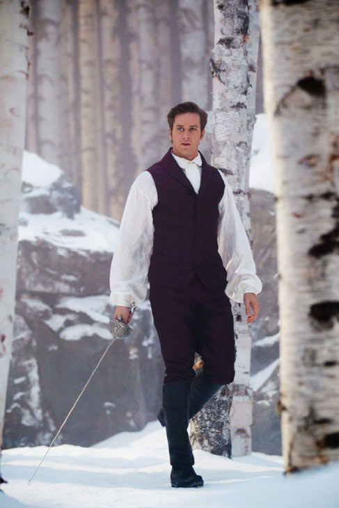 Armie Hammer appears in a scene from 'Mirror, Mirror,' which is slated for release on March 16, 2012.